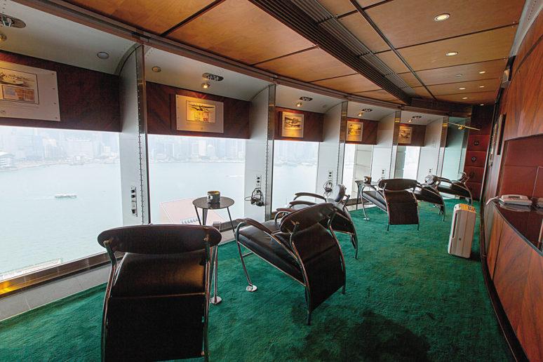 專門提供給參加直升機導覽旅客的專屬休息室「China Clipper」